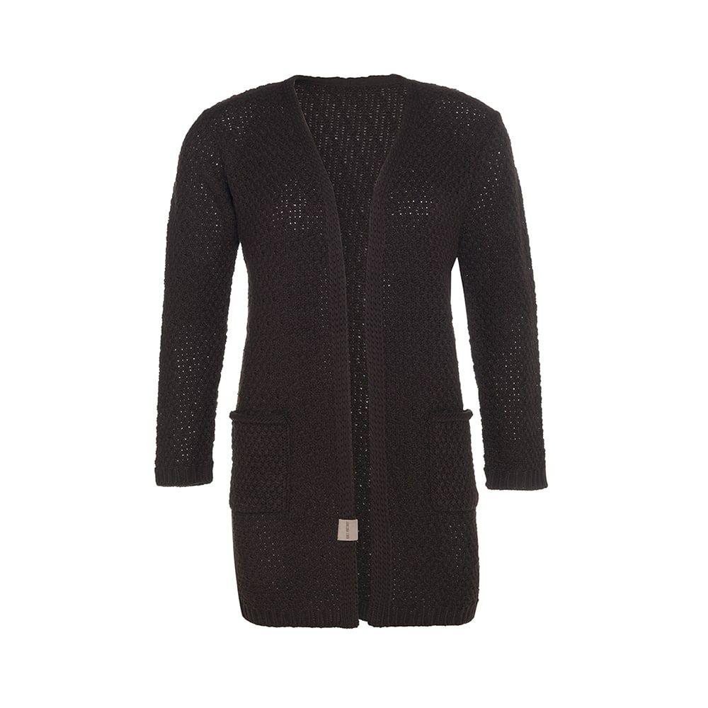 knit factory kf13308103751 luna vest donkerbruin 4042 1