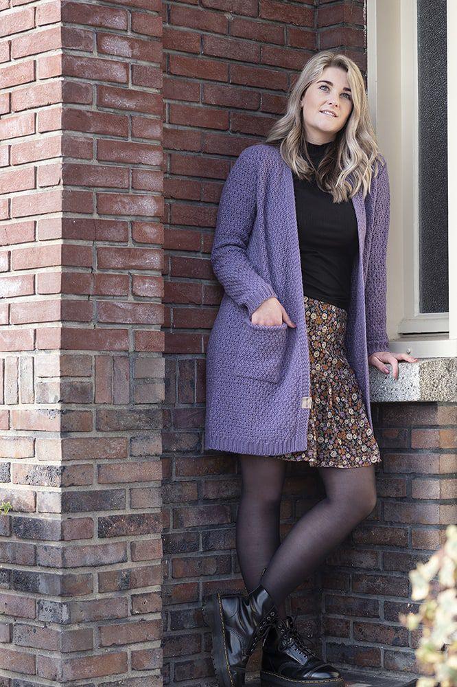 knit factory kf13308104349 luna vest violet 3638 3