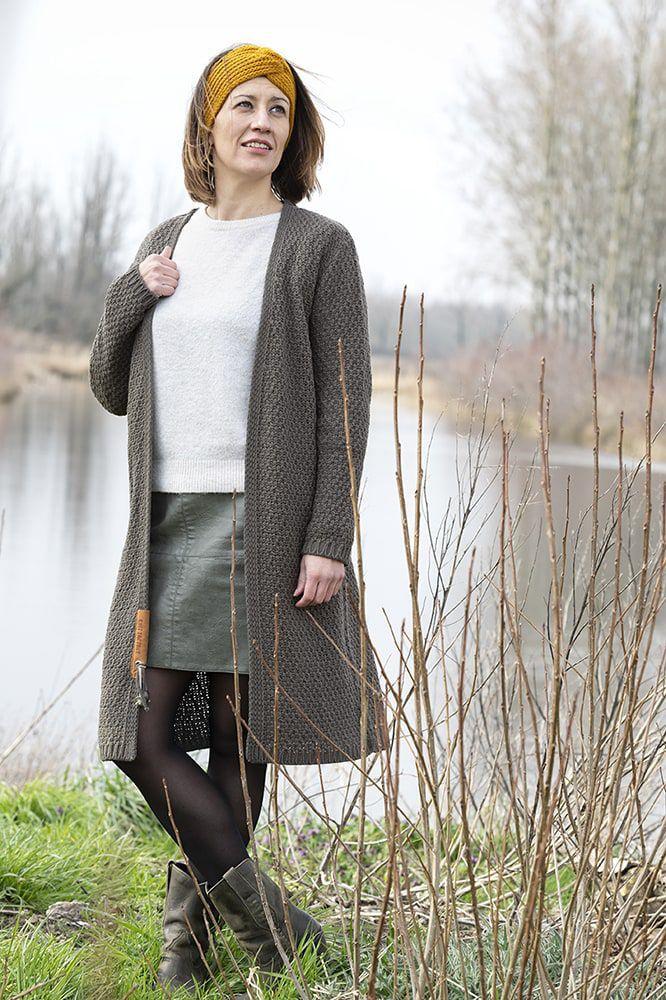 knit factory kf13308202951 luna vest taupe 4042 3