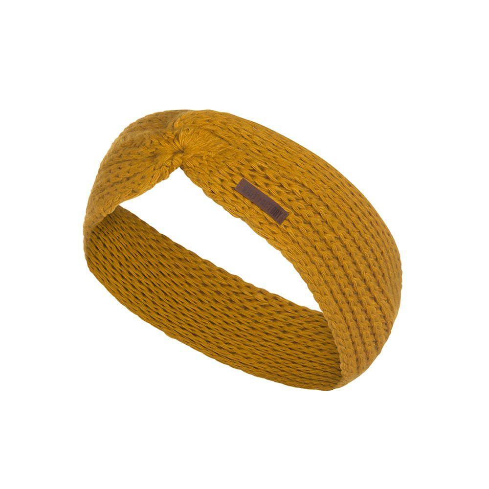 knit factory kf137069017 joy hoofdband oker 1