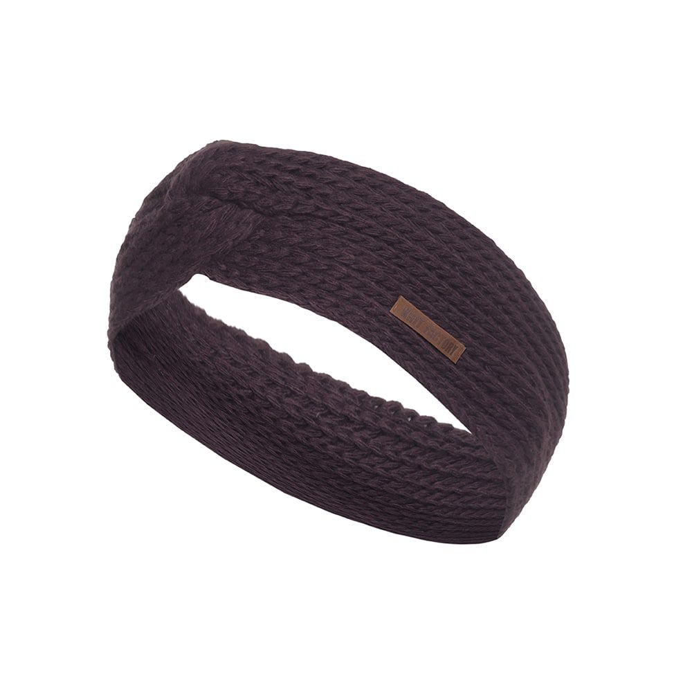 knit factory kf13706902350 joy hoofdband aubergine 1
