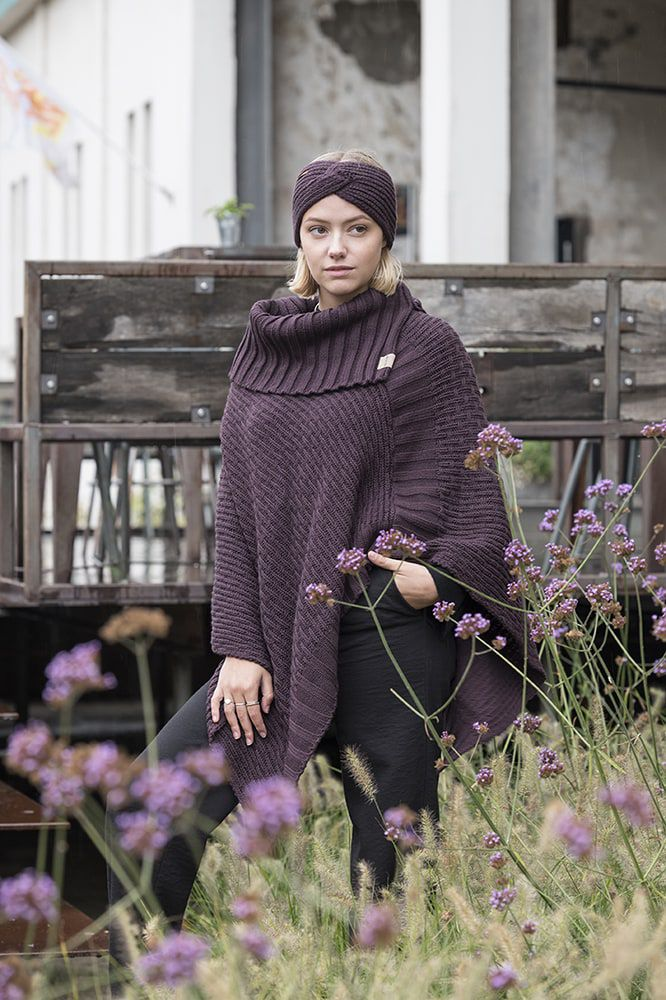 knit factory kf13706902350 joy hoofdband aubergine 3