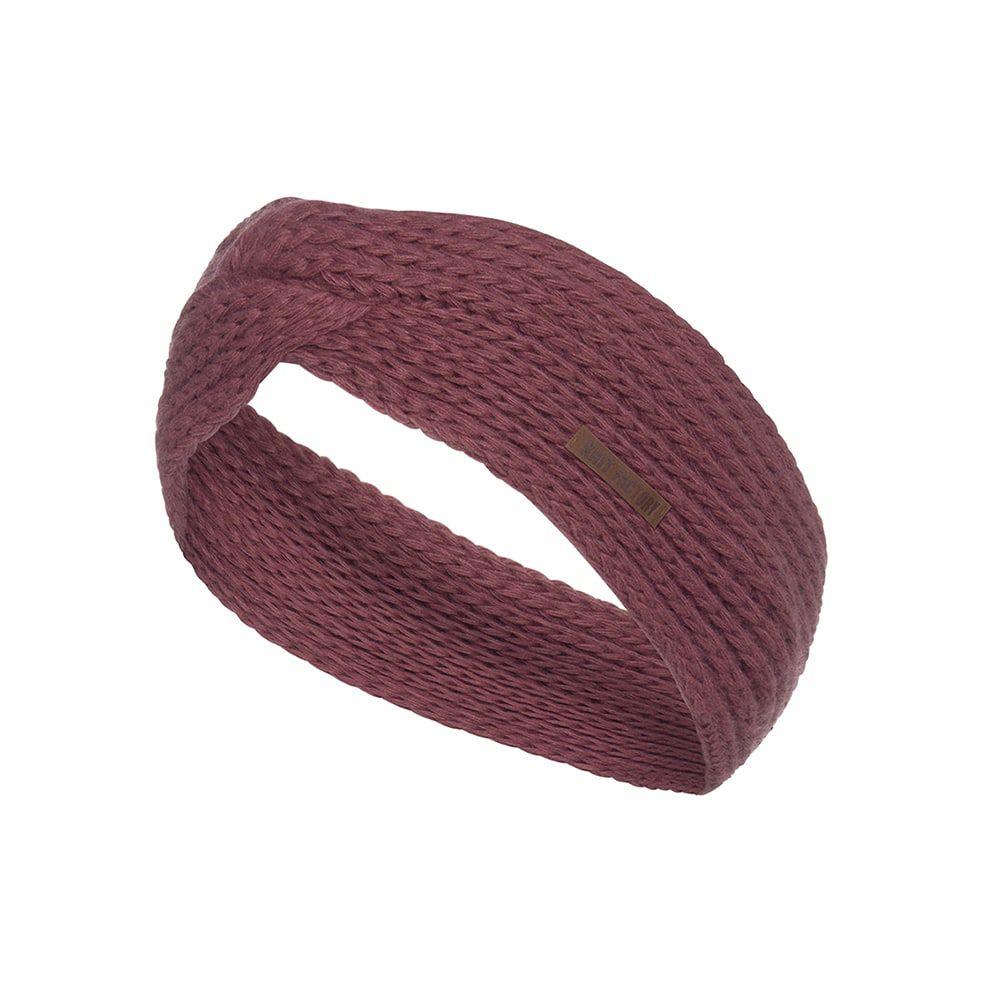 knit factory kf137069038 joy hoofdband stone red 1