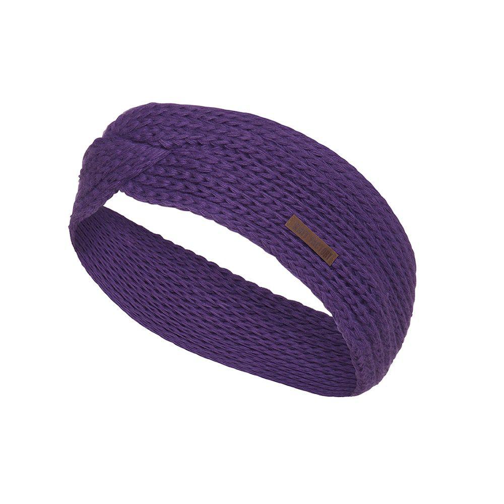 knit factory kf137069123 joy hoofdband purple 1