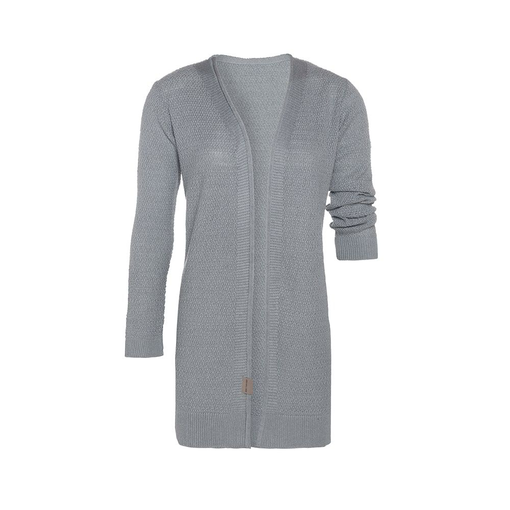 knit factory kf14108101149 june vest licht grijs 3638 1