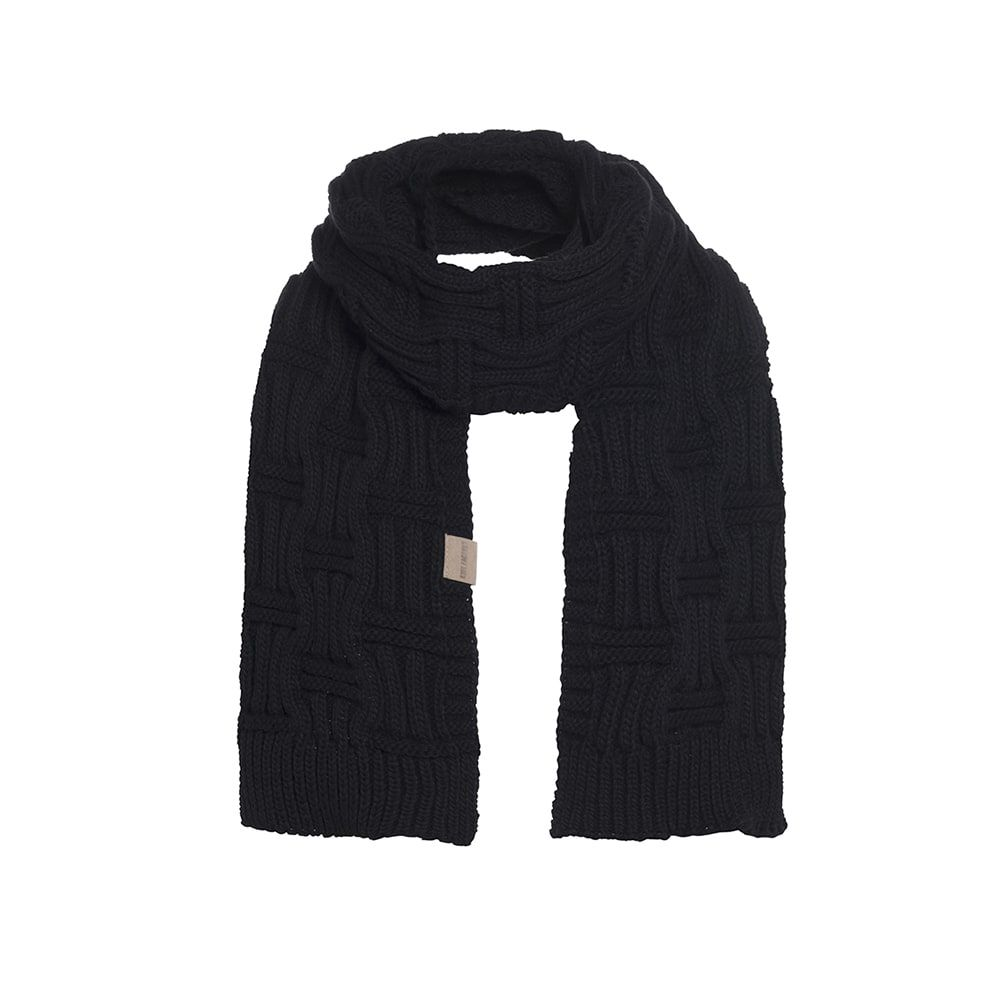 knit factory kf14406500050 bobby sjaal zwart 1