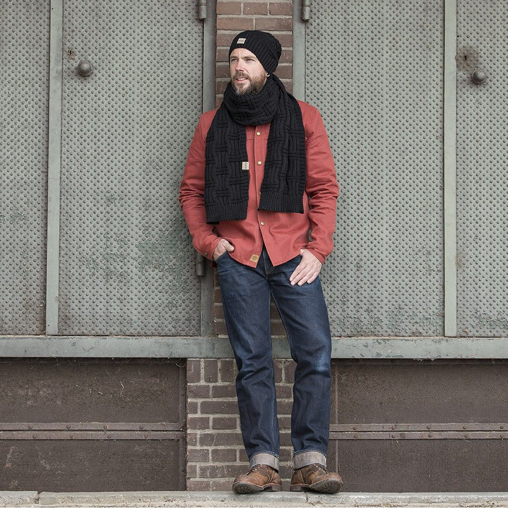 knit factory kf14406500050 bobby sjaal zwart 2