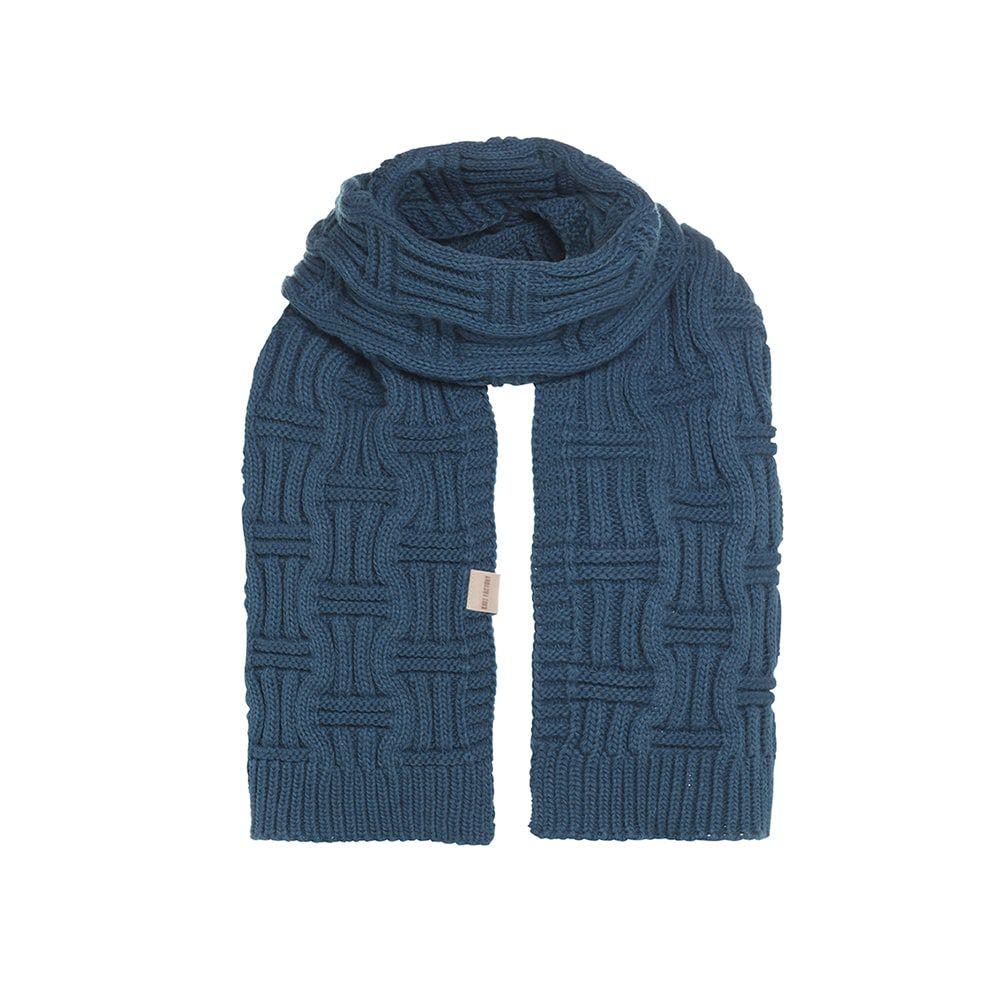 knit factory kf14406500850 bobby sjaal petrol 1