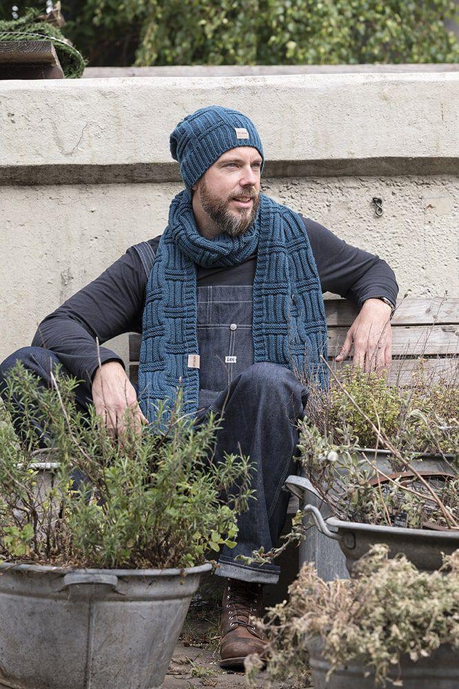knit factory kf14406500850 bobby sjaal petrol 2