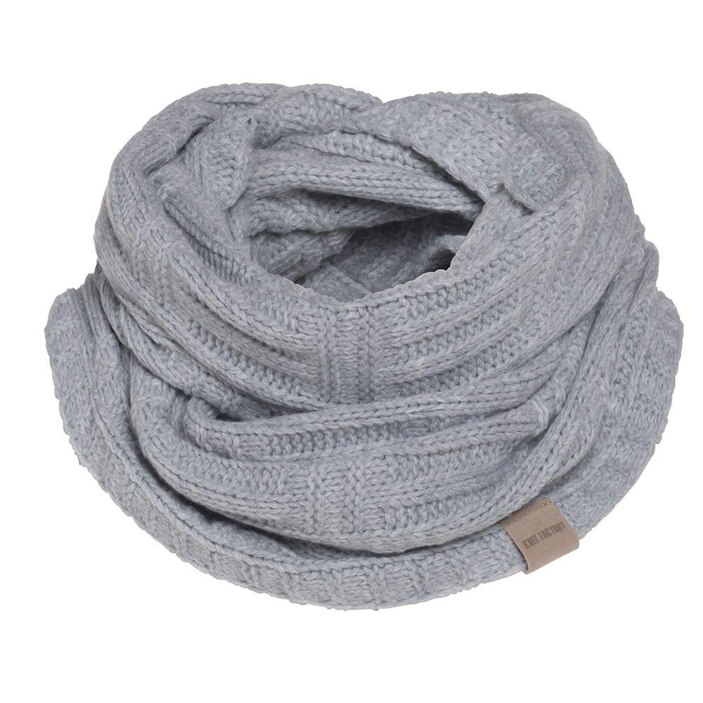 knit factory kf144066011 bobby colsjaal licht grijs 1