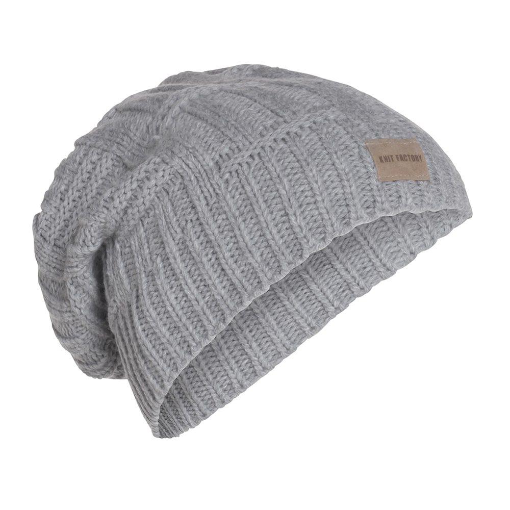 knit factory kf14407001150 bobby muts licht grijs 1