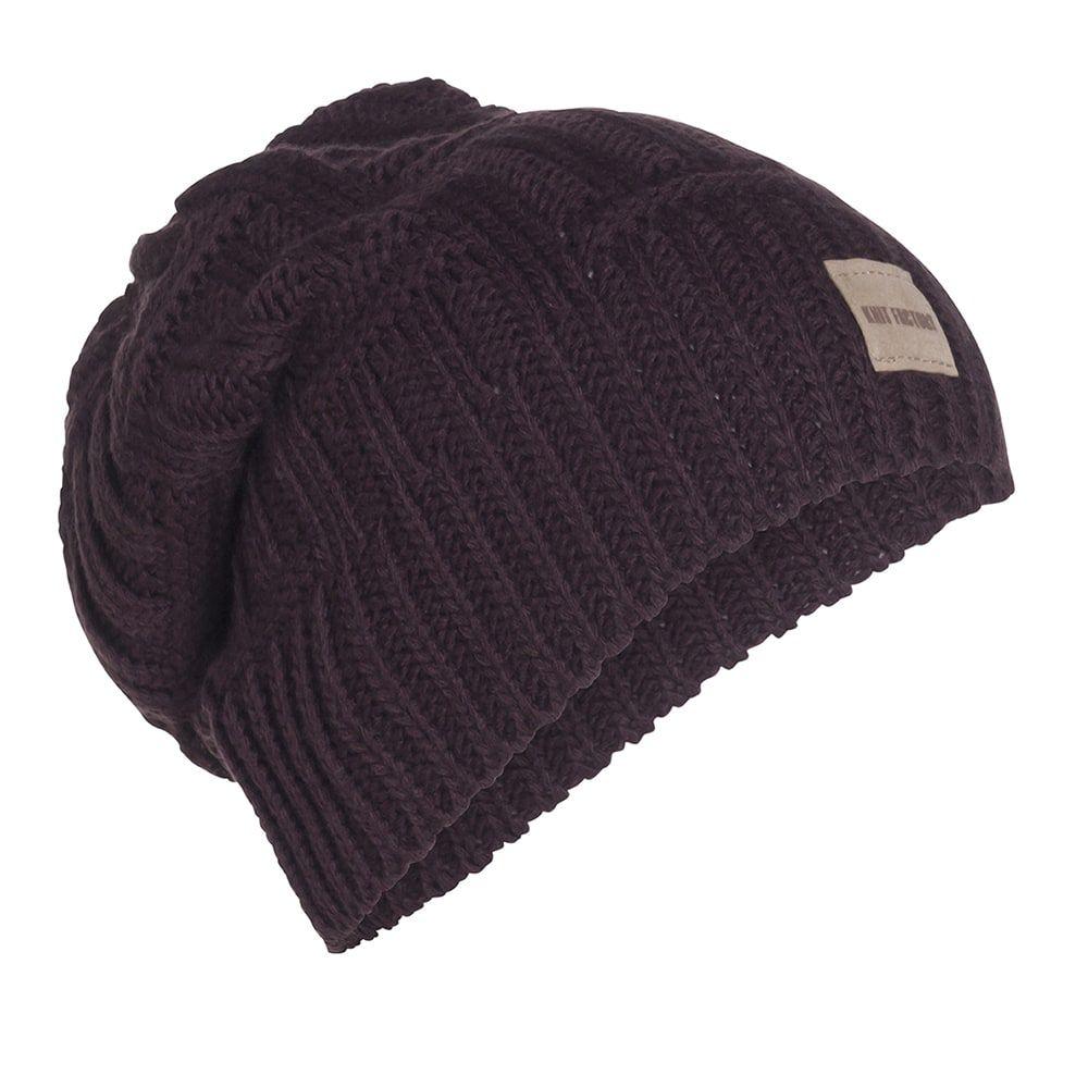 knit factory kf14407002350 bobby muts aubergine 1