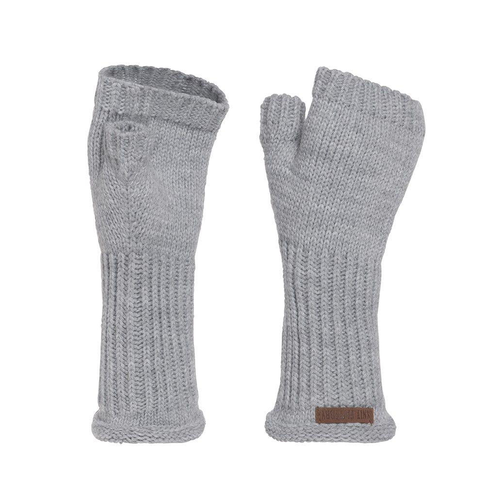 knit factory kf14607501150 cleo handschoen licht grijs 1