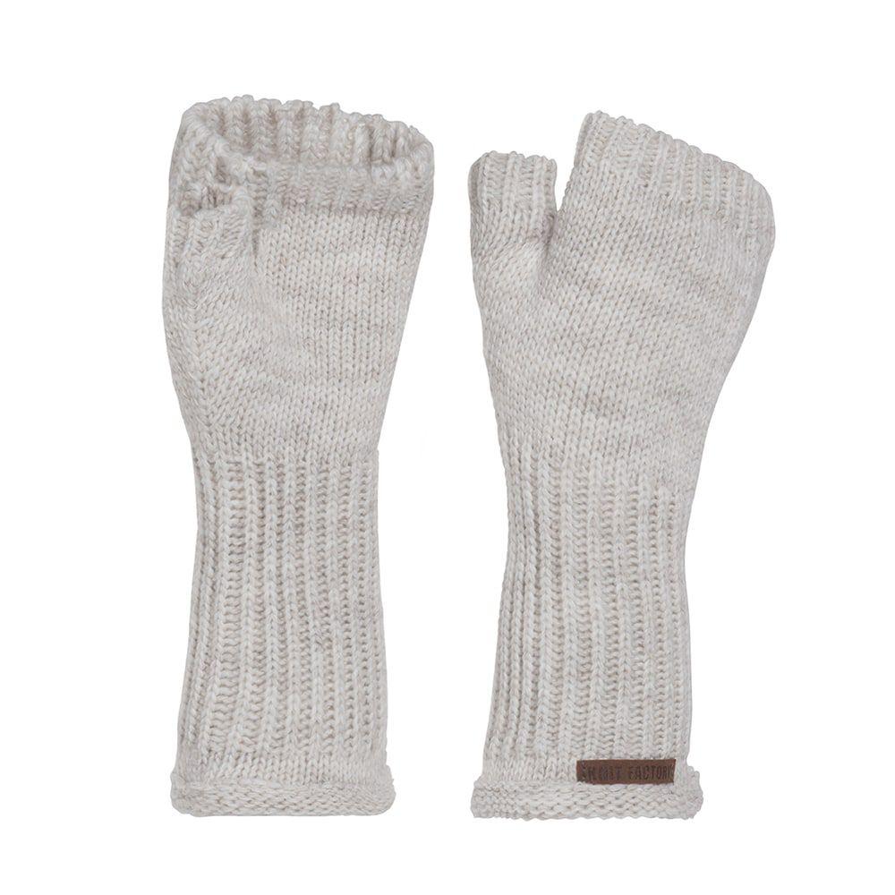 knit factory kf14607501250 cleo handschoenen beige 1