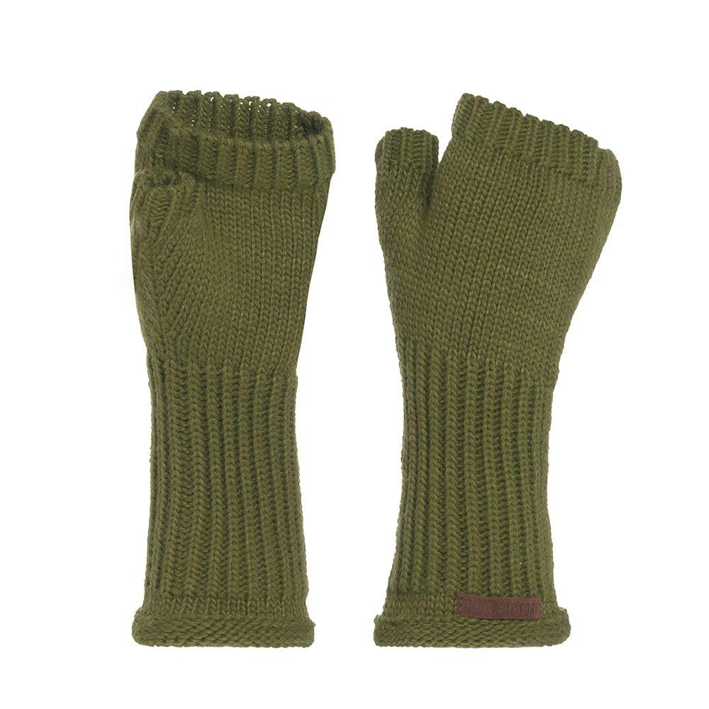 knit factory kf14607501550 cleo handschoenen mosgroen 1