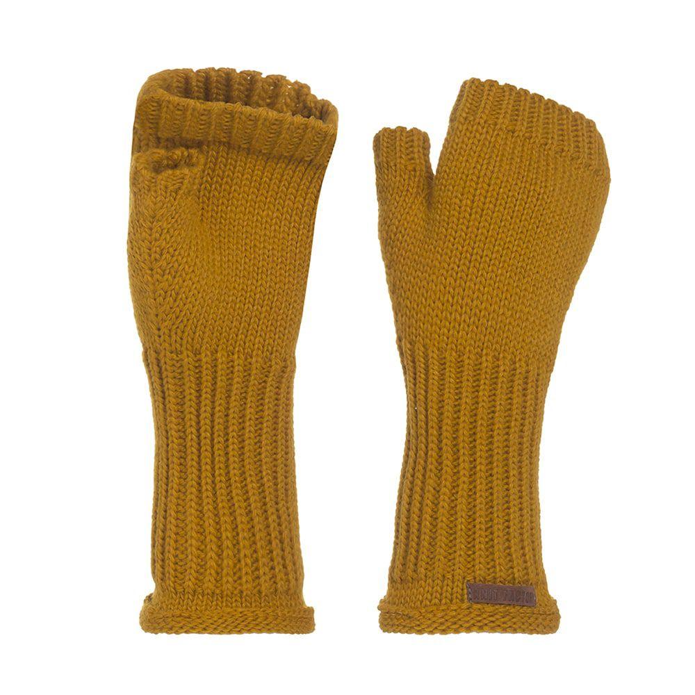 knit factory kf14607501750 cleo handschoenen oker 1