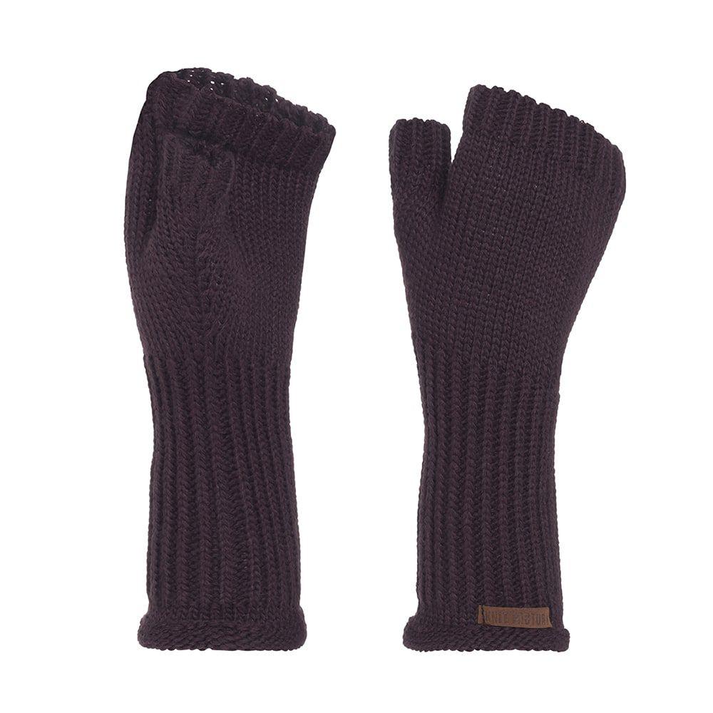 knit factory kf14607502350 cleo handschoenen aubergine 1
