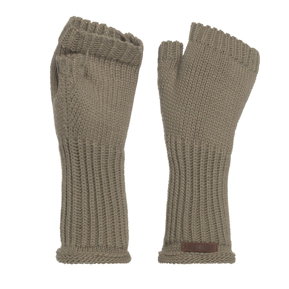 knit factory kf14607503350 cleo handschoenen olive 1