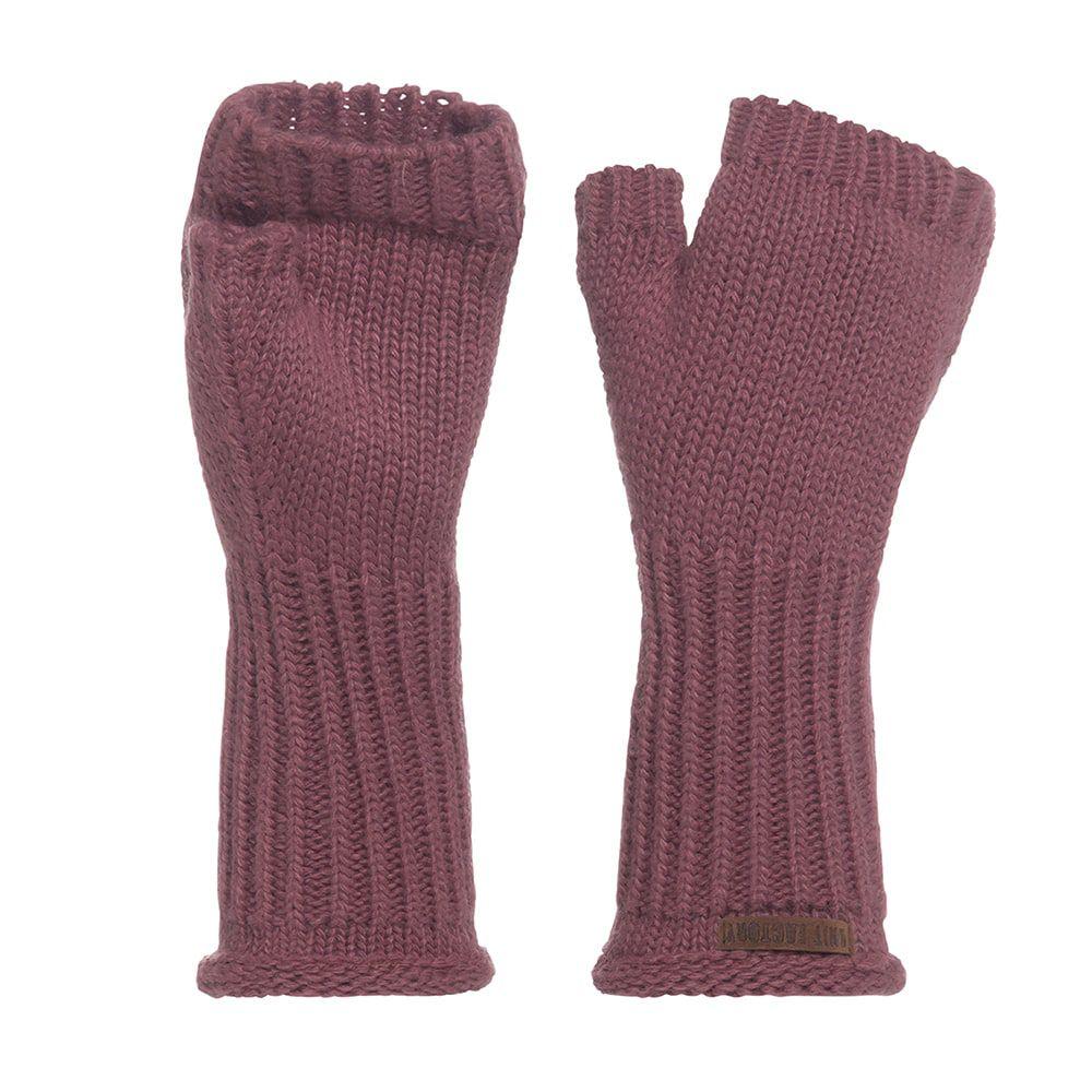 knit factory kf14607503850 cleo handschoenen stone red 1