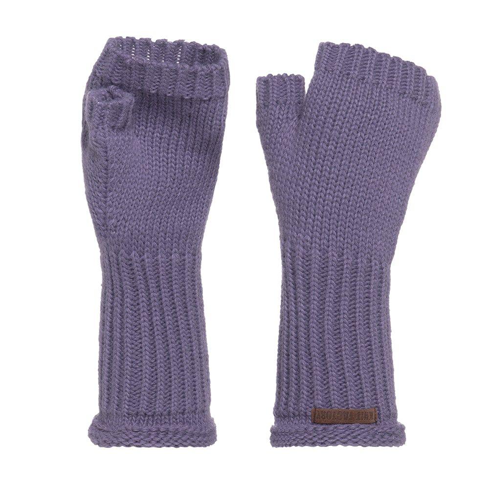 knit factory kf146075043 cleo handschoenen violet 1