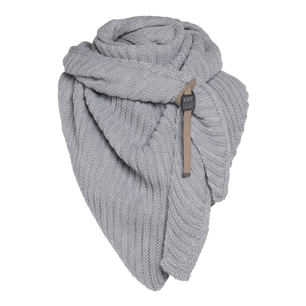 knit factory kf14706001050 demy omslagdoek antraciet 3