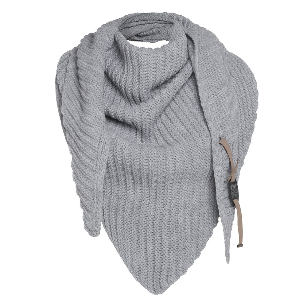 knit factory kf14706001150 demy omslagdoek licht grijs 2