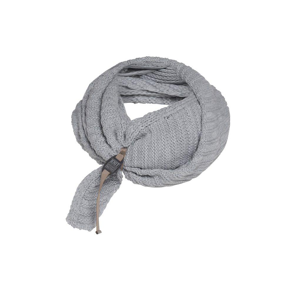 knit factory kf14706001150 demy omslagdoek licht grijs 4