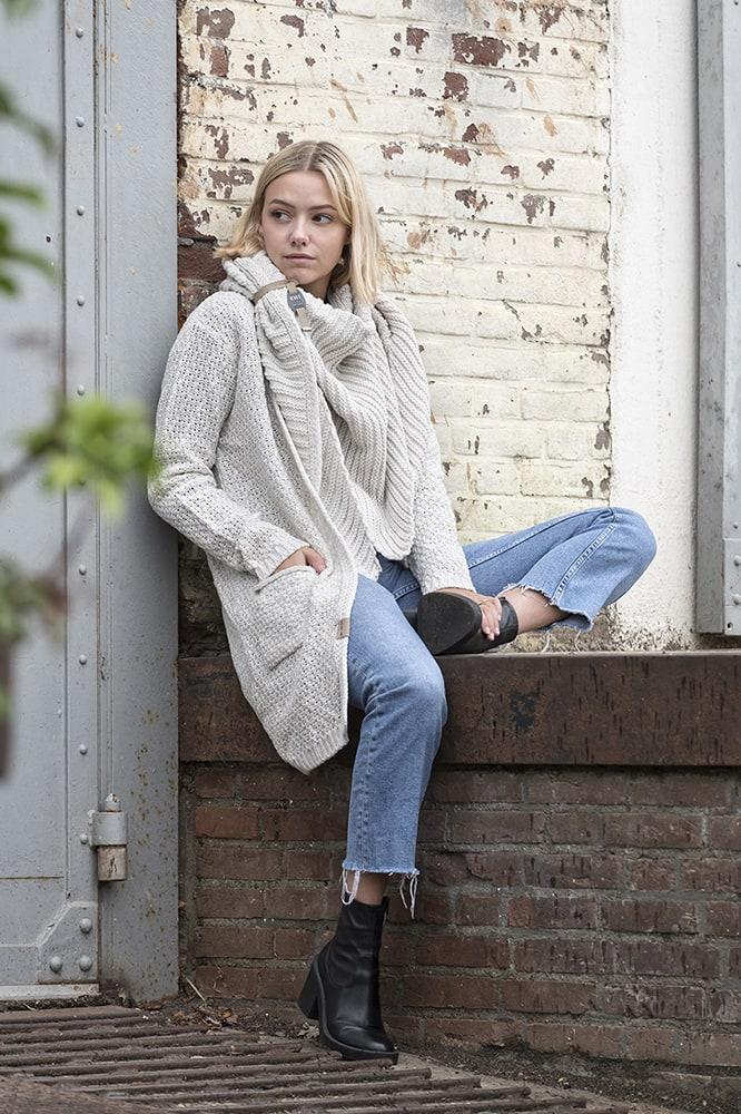 knit factory kf14706001250 demy omslagdoek beige 6