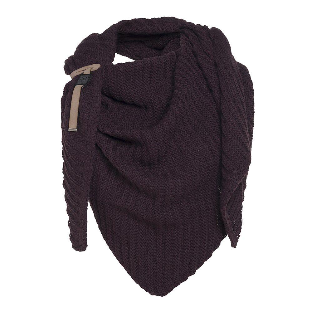 knit factory kf14706002350 demy omslagdoek aubergine 1