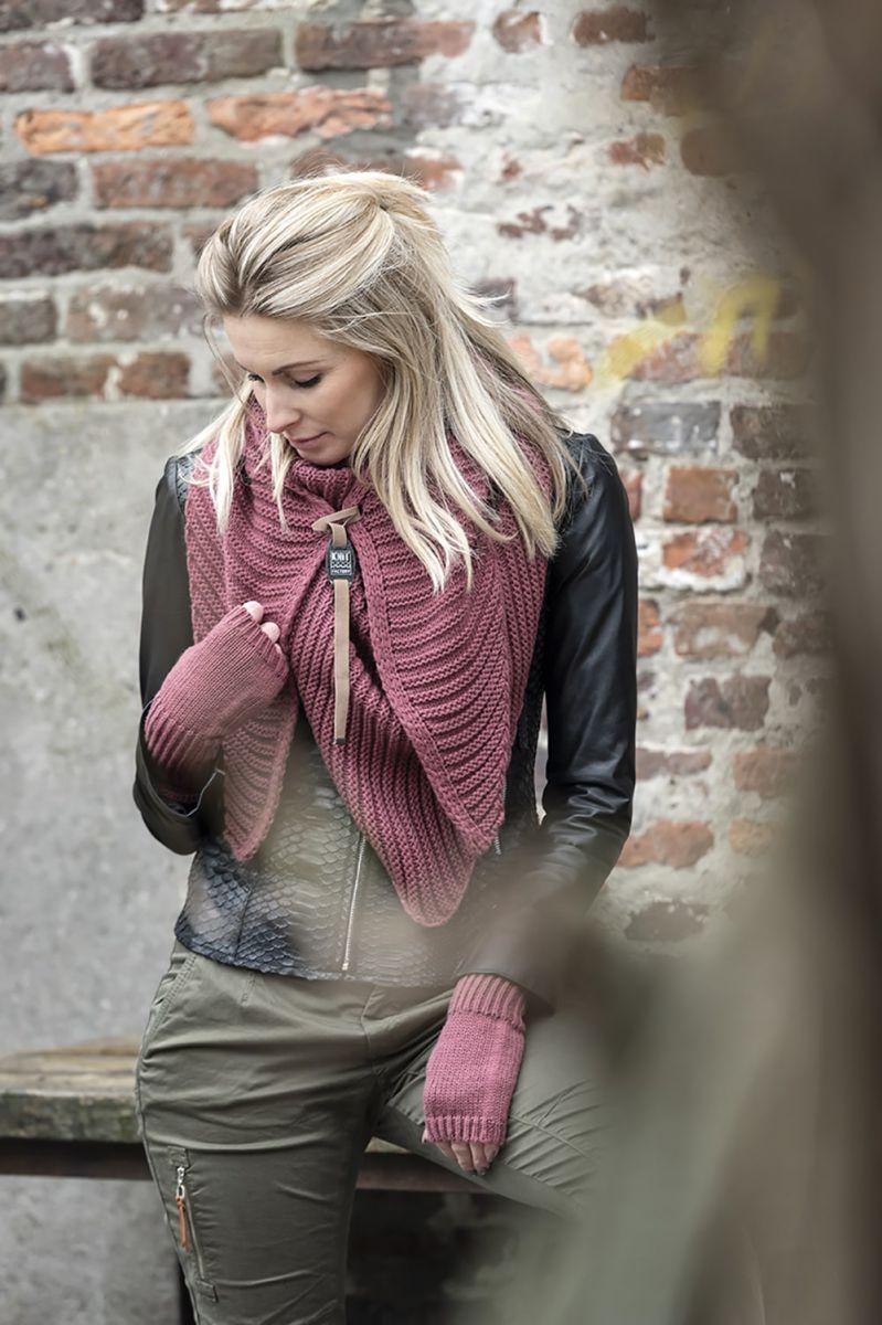 knit factory kf14706003850 demy omslagdoek stone red 6