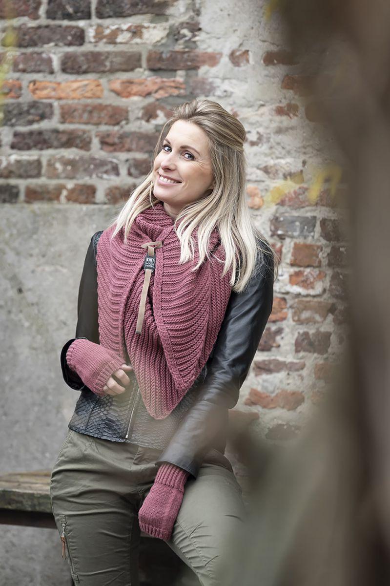 knit factory kf14706003850 demy omslagdoek stone red 7