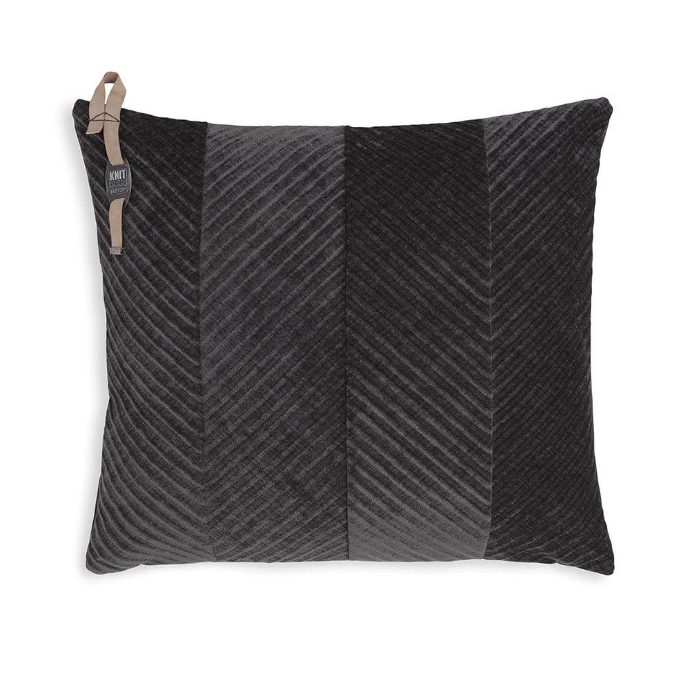 knit factory kf149012010 beau kussen antraciet 50x50 1