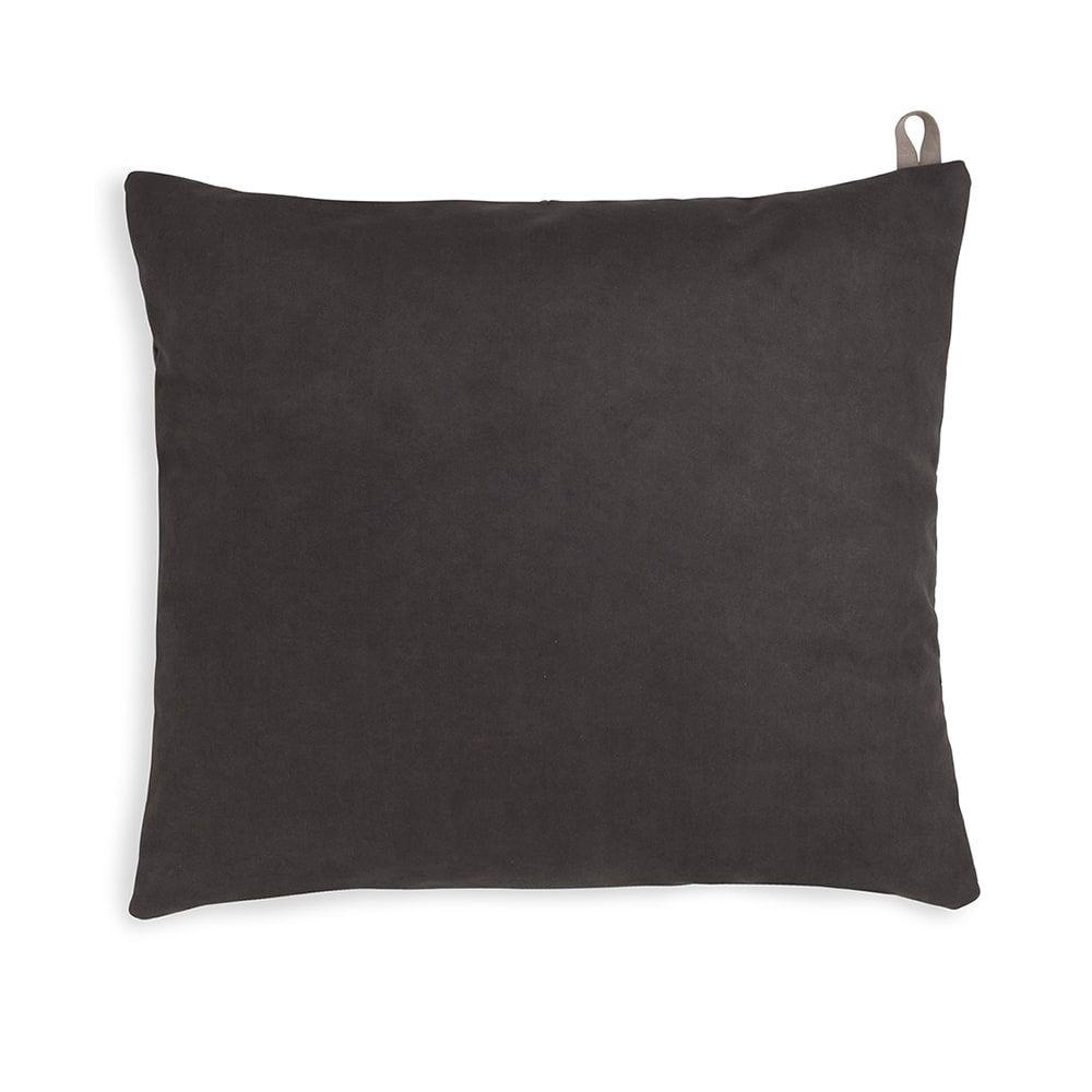 knit factory kf149012010 beau kussen antraciet 50x50 2