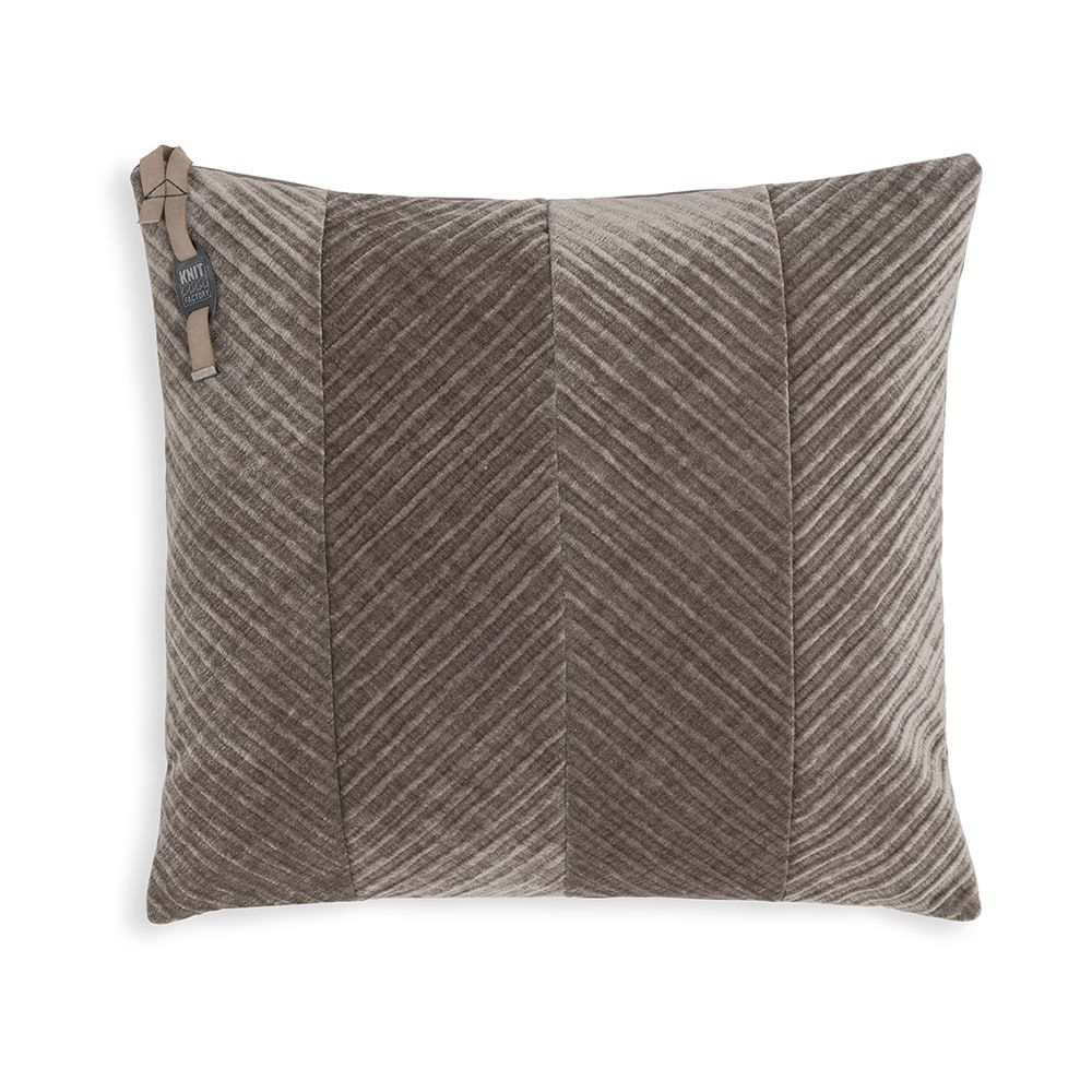 knit factory kf149012029 beau kussen taupe 50x50 1