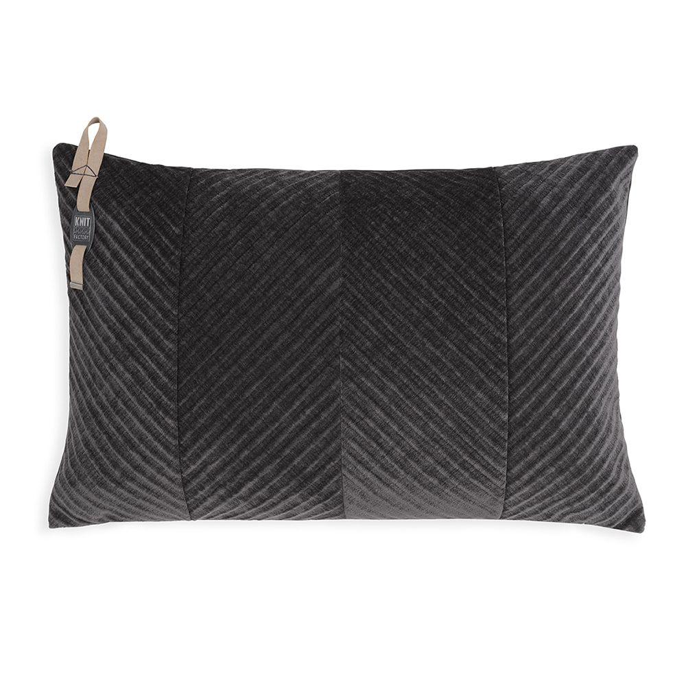 knit factory kf149013010 beau kussen antraciet 60x40 1