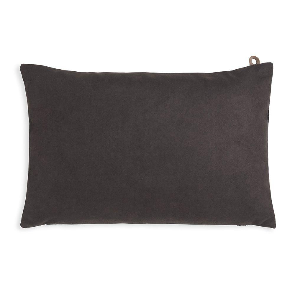 knit factory kf149013010 beau kussen antraciet 60x40 2