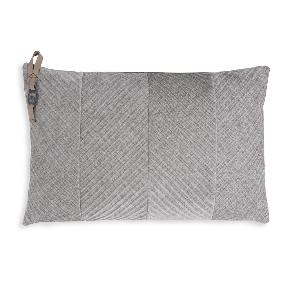 knit factory kf149013011 beau kussen licht grijs 60x40 1