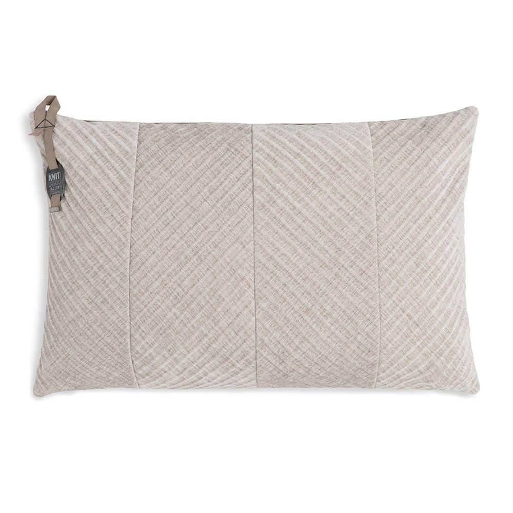 knit factory kf149013012 beau kussen beige 60x40 1