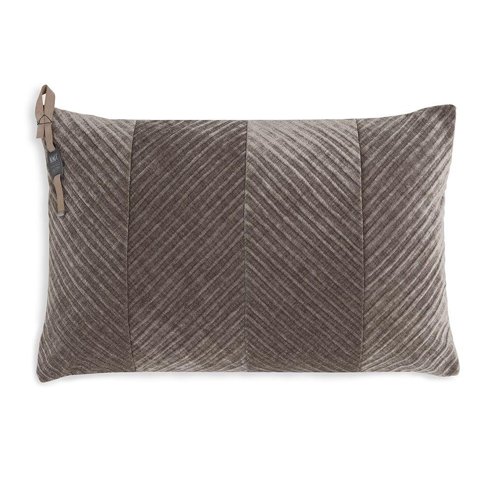knit factory kf149013029 beau kussen taupe 60x40 1