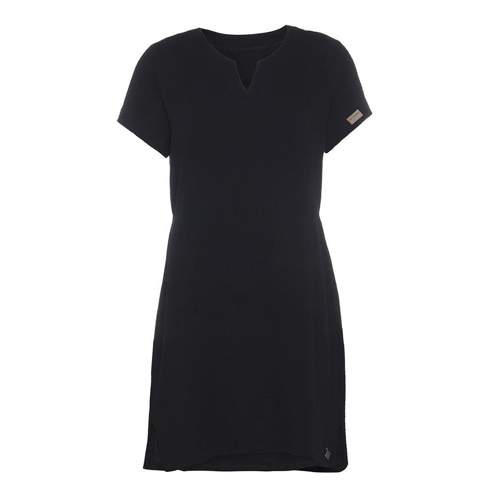 knit factory kf15012000050 indy jurk zwart m 1