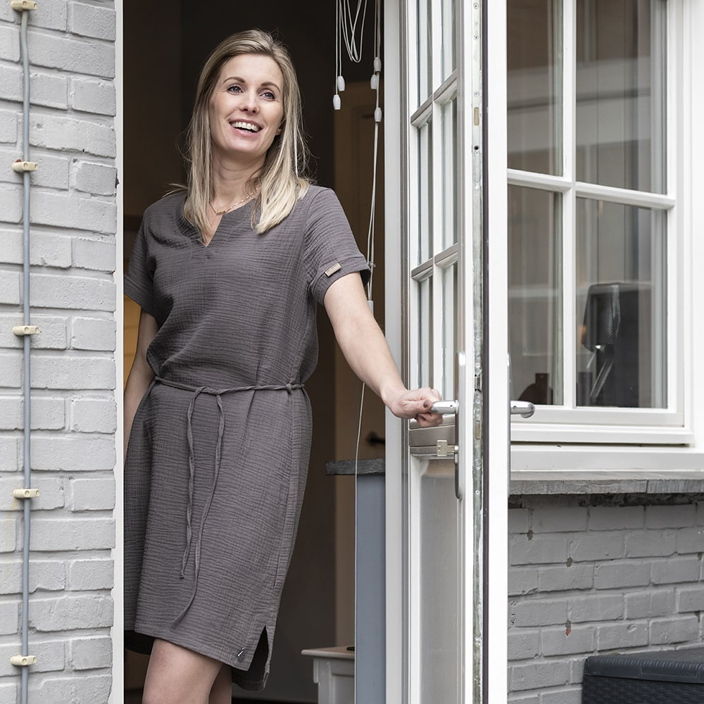 knit factory kf15012001052 indy jurk antraciet xl 3