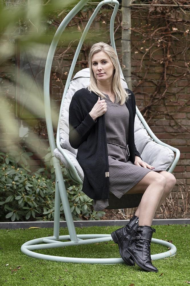 knit factory kf15012001052 indy jurk antraciet xl 4