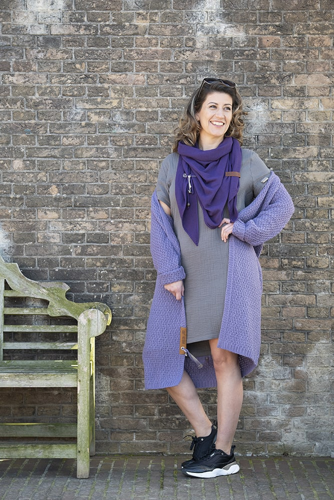 knit factory kf15012001052 indy jurk antraciet xl 5