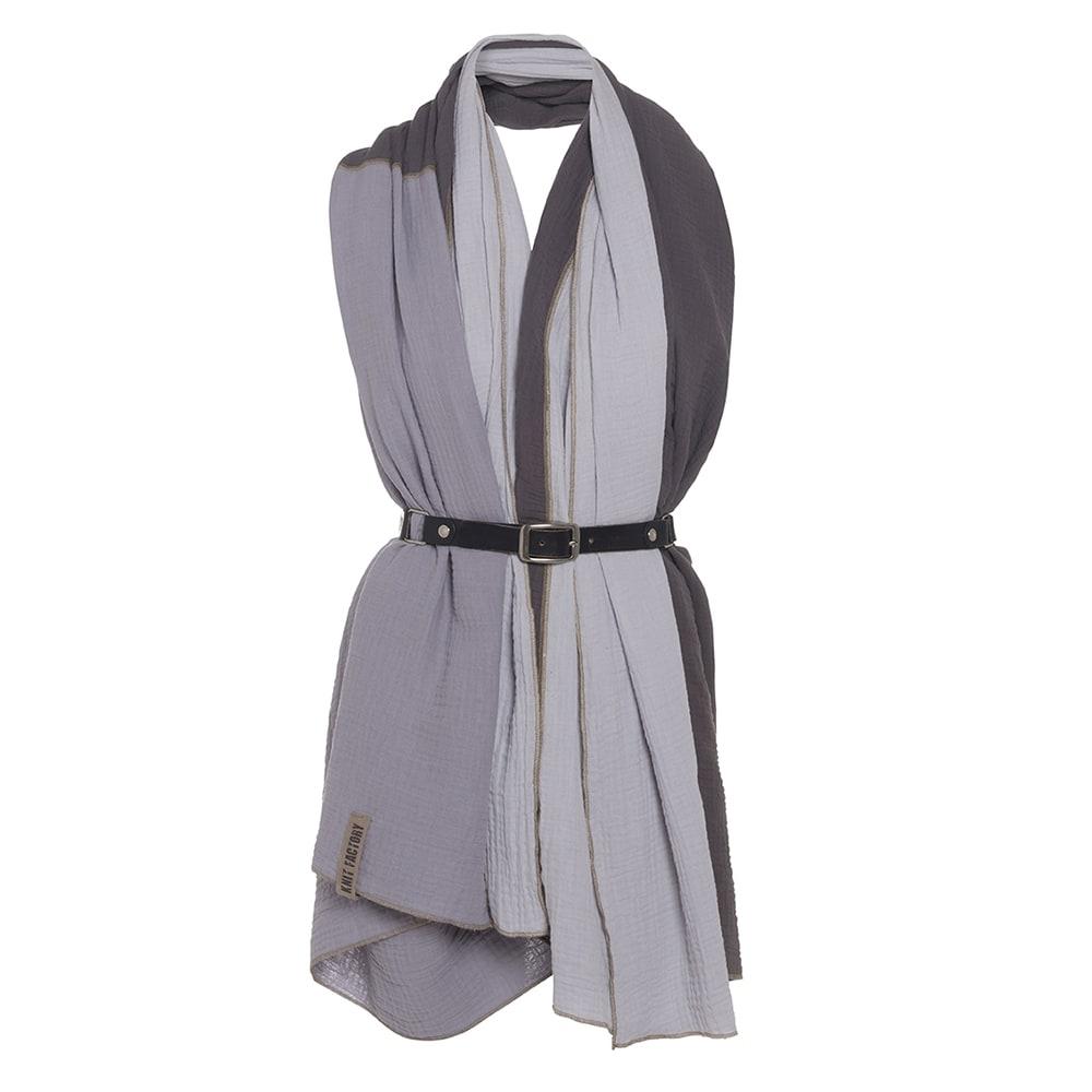 knit factory kf151056050 fay pareo antraciet grijs 2