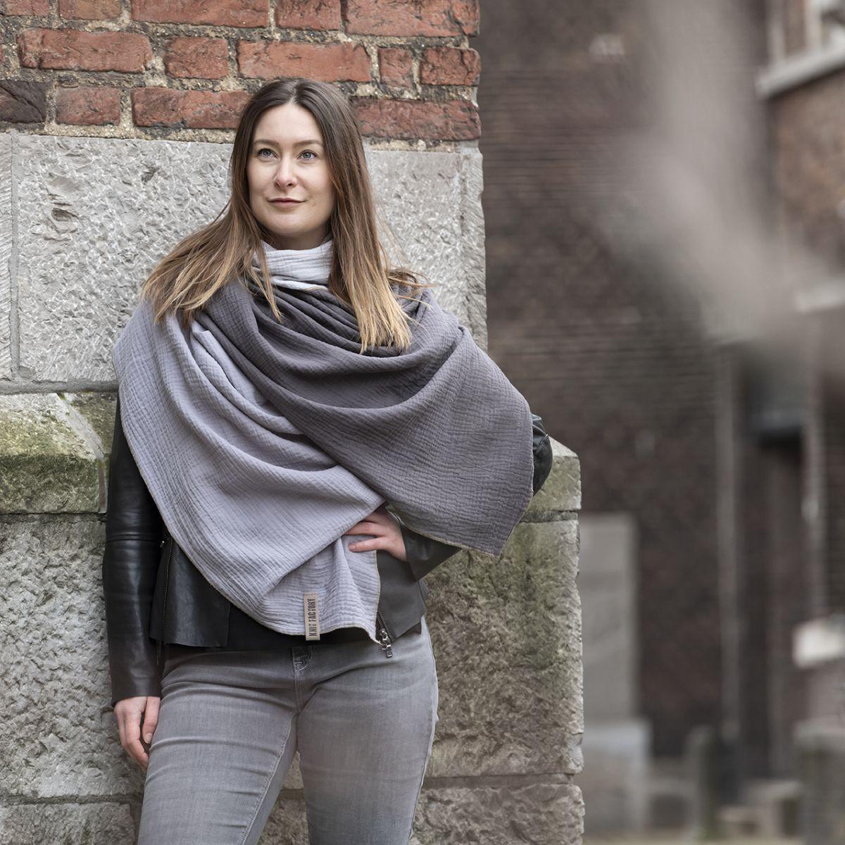 knit factory kf151056050 fay pareo antraciet grijs 6