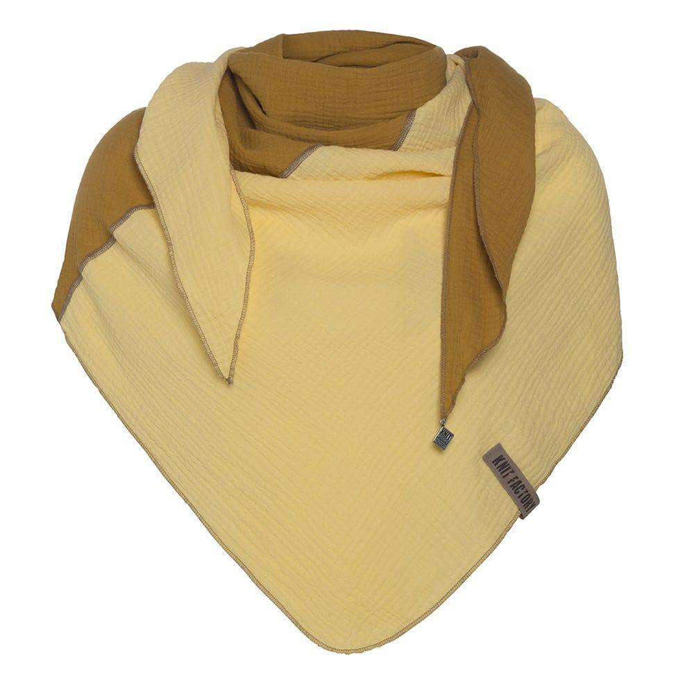 knit factory kf151060063 fay omslagdoek oker citrus 1
