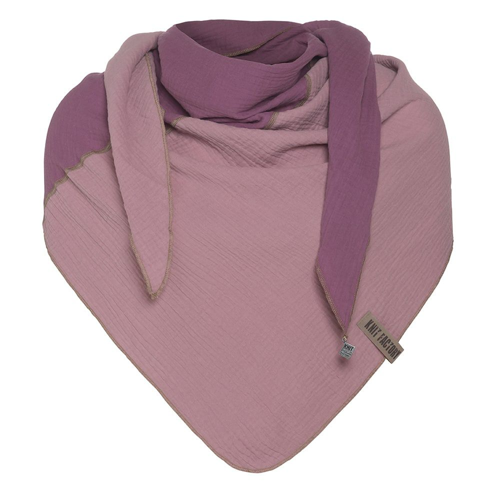 knit factory kf151060082 fay omslagdoek violet lila 1