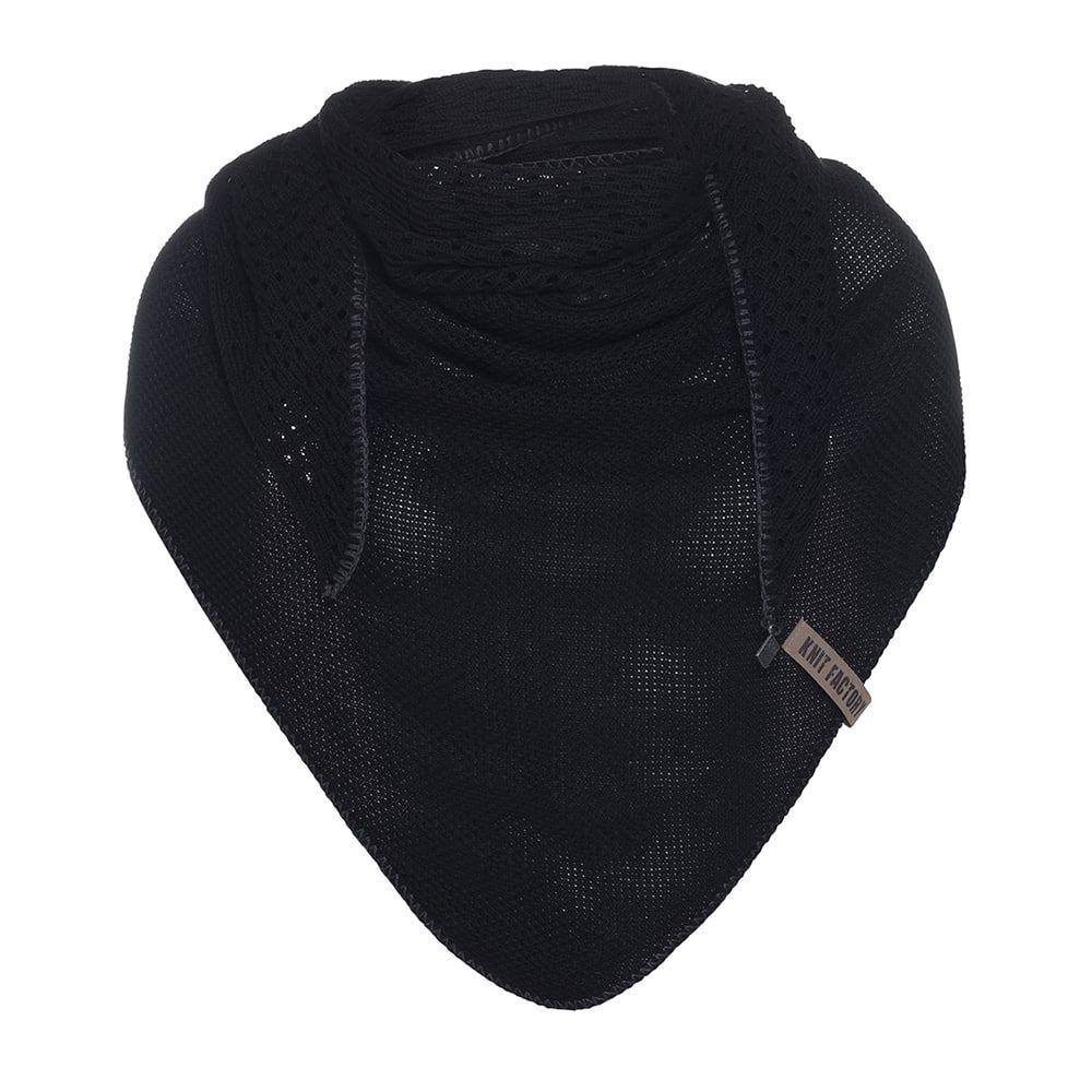 knit factory kf152060000 april omslagdoek zwart 1