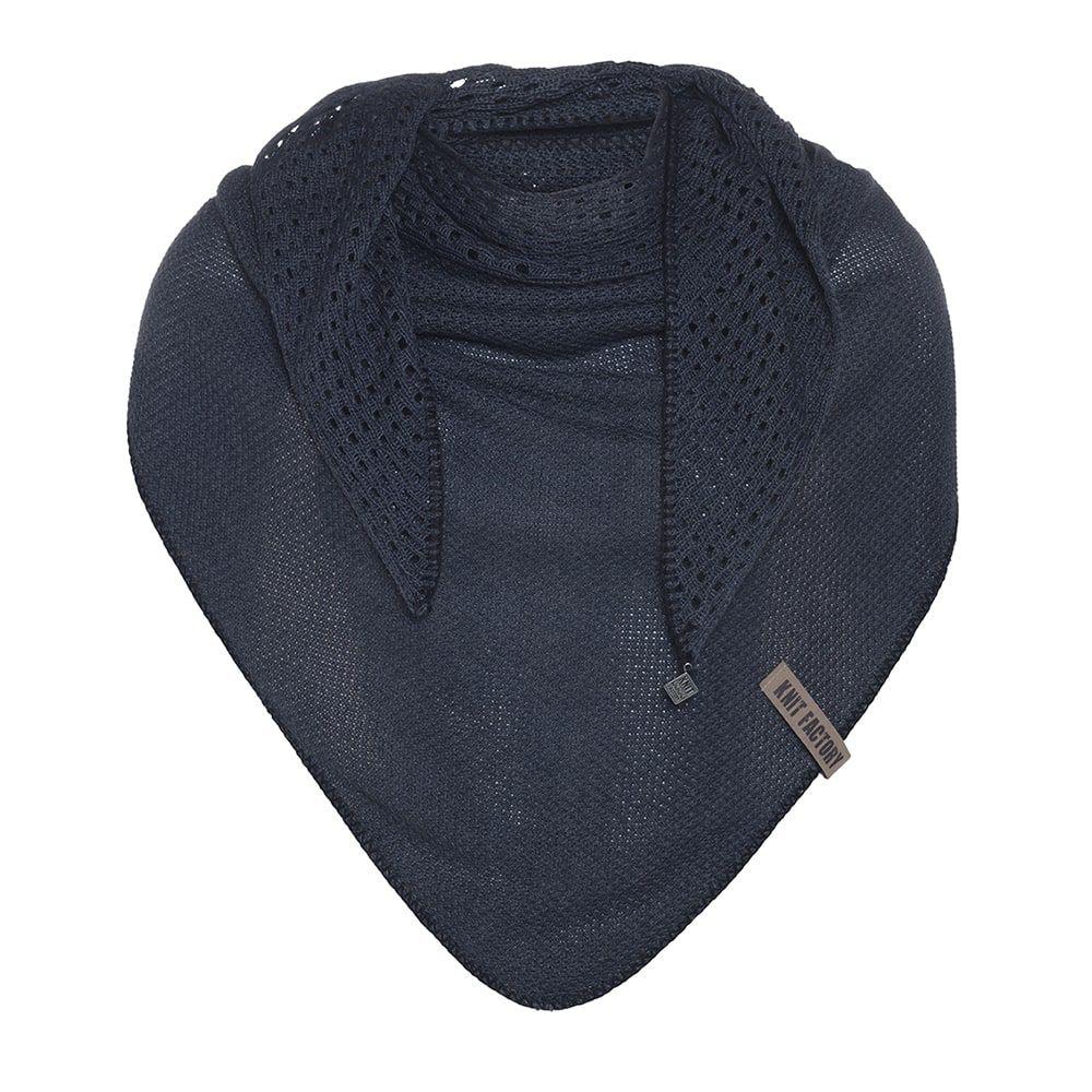 knit factory kf152060007 april omslagdoek denim 1