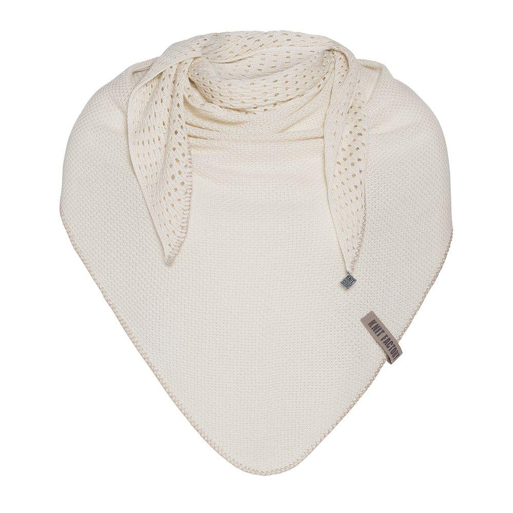 knit factory kf152060019 april omslagdoek ecru 1